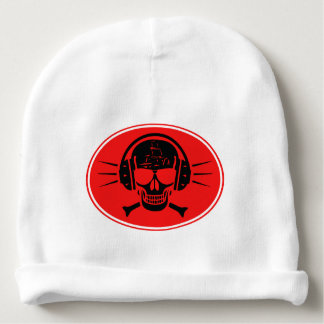 Pirate music baby beanie
