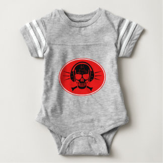 Pirate music baby bodysuit