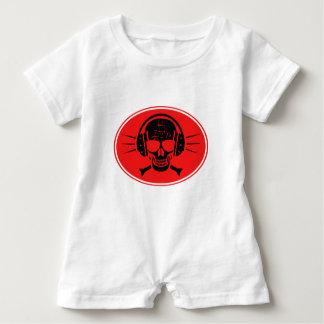 Pirate music baby romper