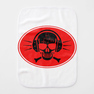 Pirate music burp cloth