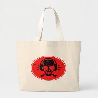 Pirate music large tote bag
