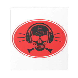 Pirate music notepad