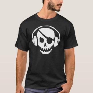 Pirate Music Skull with headphones T-Shirt