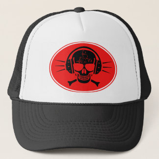 Pirate music trucker hat