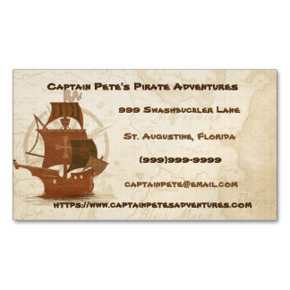 Pirate Mystery Ship Business Card Magnet