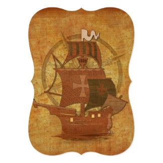 Pirate Mystery Ship Card