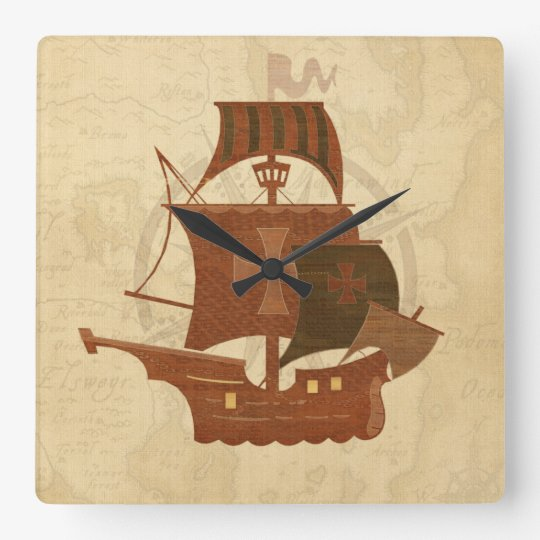Pirate Mystery Ship Clocks