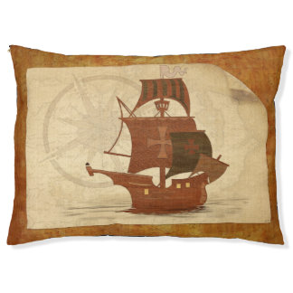 Pirate Mystery Ship Large Dog Bed