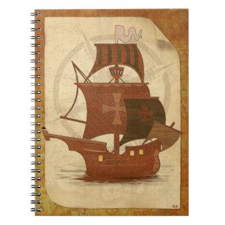 Pirate Mystery Ship Notebook