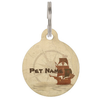 Pirate Mystery Ship Pet Tag