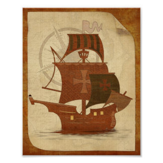 Pirate Mystery Ship Poster