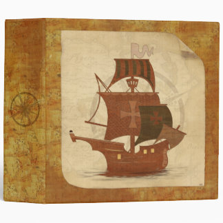 Pirate Mystery Ship Vinyl Binder