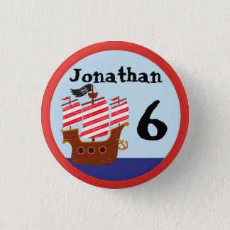 Pirate Name & Age Badge 1 Inch Round Button