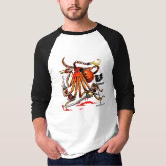 Pirate Octopus Raglan-Sleeve Shirt