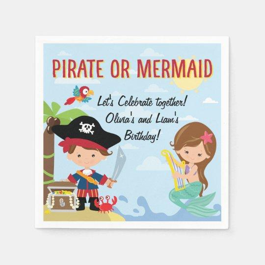 Pirate or Mermaid Disposable Napkin