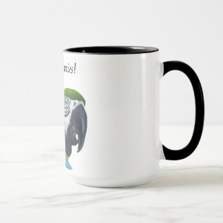 "Pirate Parrot ""Ahoy, me Hearties"" mug"