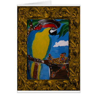 Pirate Parrot Card