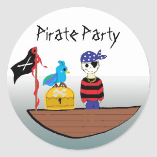 Pirate Party Classic Round Sticker