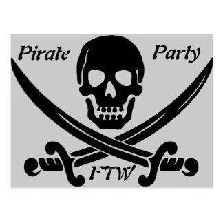 Pirate Party - FTW Postcard