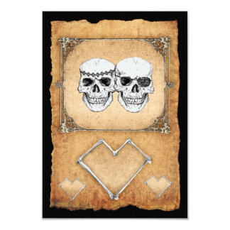 "pirate party 3.5"" x 5"" invitation card"