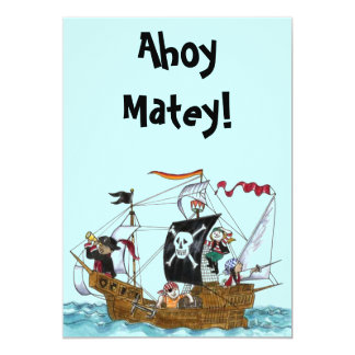 Pirate Party Invitation Sail Ship Ahoy INVITATIONS