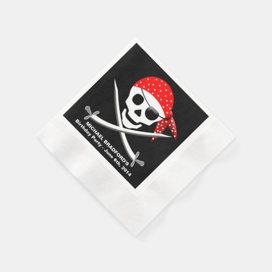PIRATE PARTY PAPER NAPKINS (50 PER PACK)