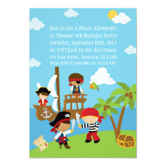 Pirate Party - Personalized Birthday Invitations
