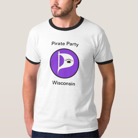 Pirate Party T-Shirt with stylish sleeve boarders