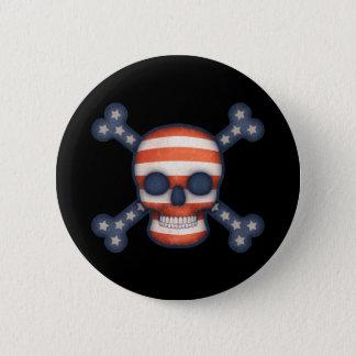 Pirate Patriot 2 Inch Round Button