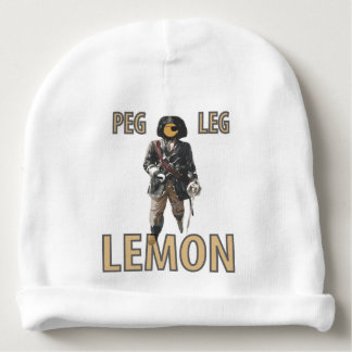 Pirate 'Peg Leg' Lemon Baby Beanie