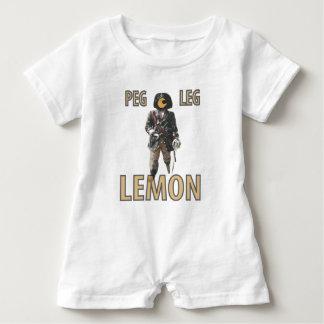 Pirate 'Peg Leg' Lemon Baby Romper