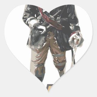 Pirate 'Peg Leg' Lemon Heart Sticker