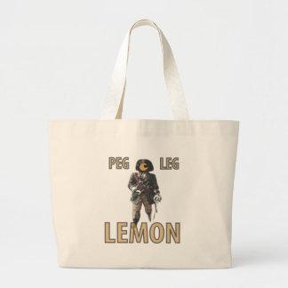 Pirate 'Peg Leg' Lemon Large Tote Bag
