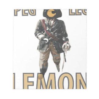 Pirate 'Peg Leg' Lemon Notepads