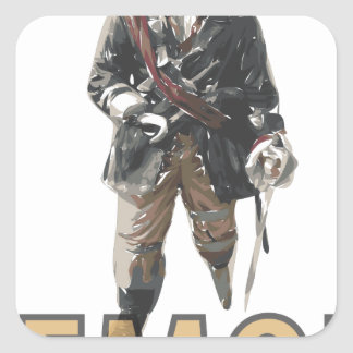 Pirate 'Peg Leg' Lemon Square Sticker