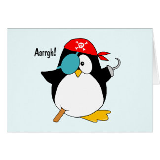 Pirate Penguin Greeting Card