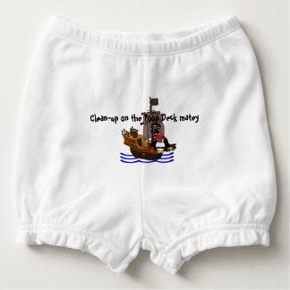 Pirate penguin diaper cover