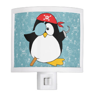 Pirate Penguin Drawing Night Lights