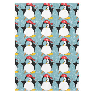 Pirate Penguin Graphic Pattern Tablecloth