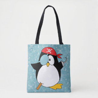 Pirate Penguin Graphic Tote Bag