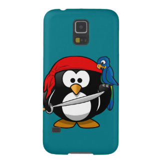 Pirate penguin parrot galaxy s5 covers
