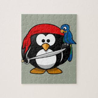 Pirate penguin parrot jigsaw puzzle