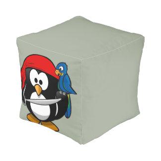 Pirate penguin parrot pouf