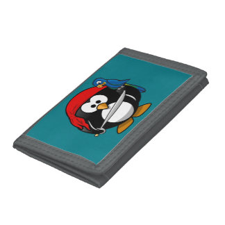 Pirate penguin parrot trifold wallets