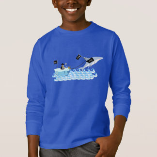 Pirate penguin with shark T-Shirt