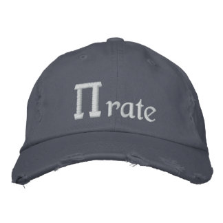 Pirate, PI - rate Embroidered Hat