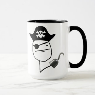 Pirate Poker Face Meme Mug