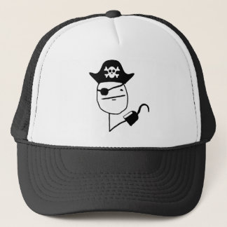 Pirate poker face - meme trucker hat