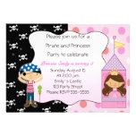 Pirate Princess Birthday Party Invitations