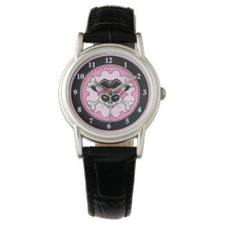 Pirate Princess Kitty Skull Wrist Watch